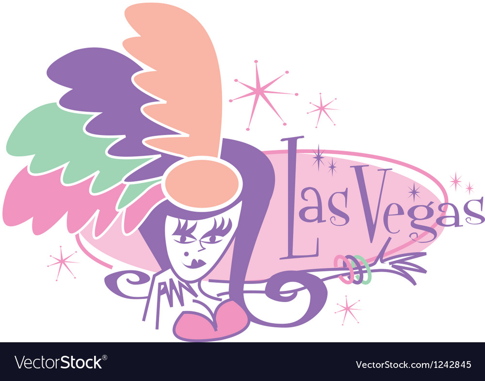 Las Vegas Showgirl signs vector image