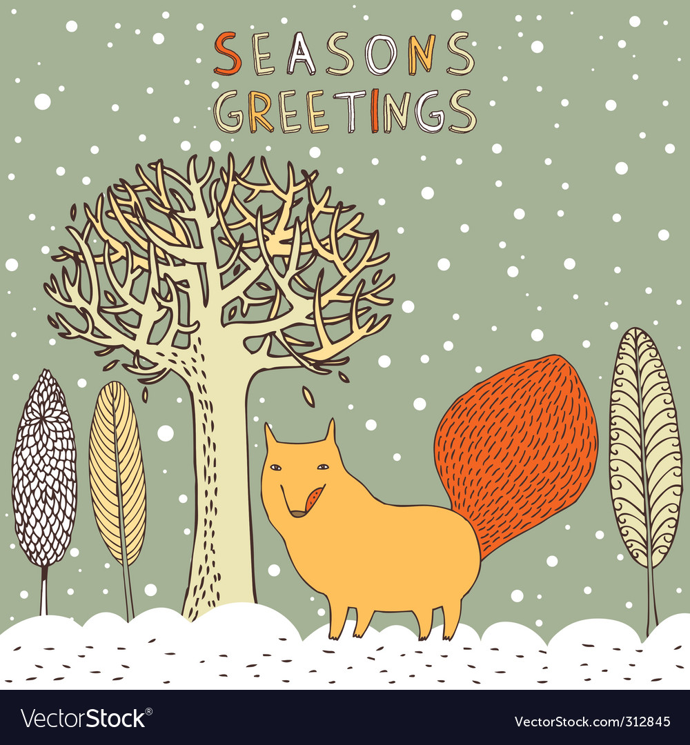 Seasons greetings card royalty free vector image seasons greetings card vector image kristyandbryce Image collections