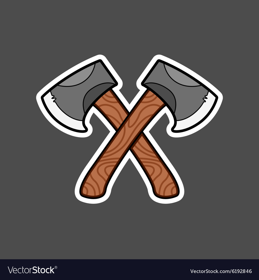 Axe graphic vector image