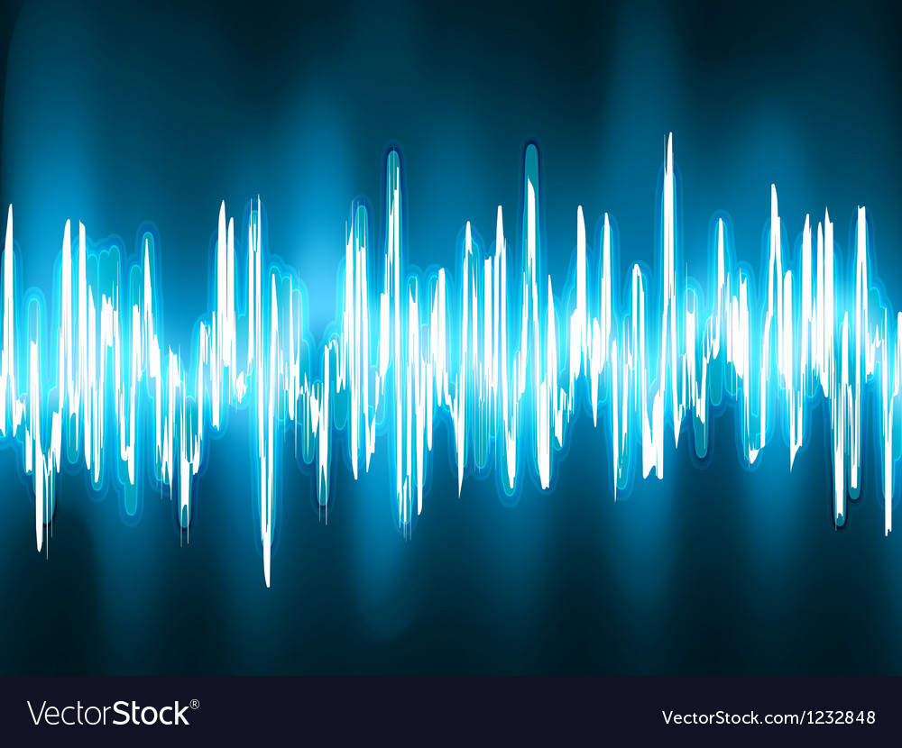 Sound waves oscillating background vector image