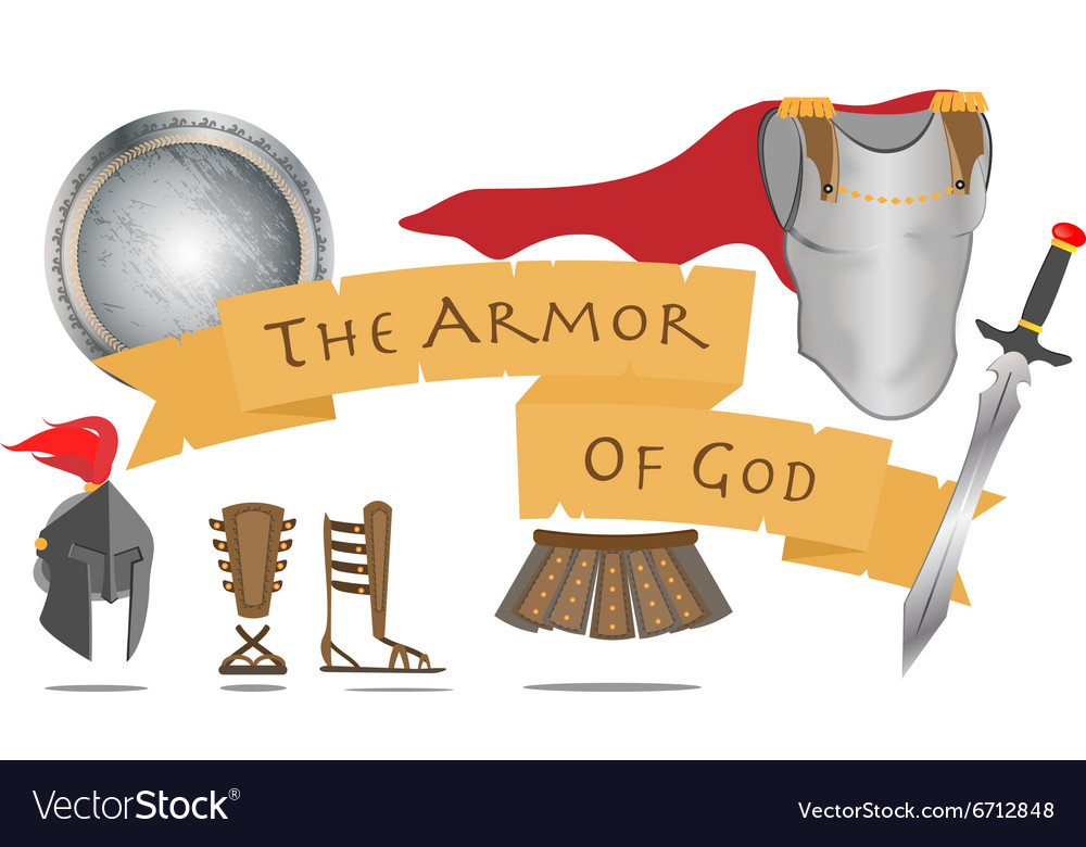 Armor of God Christianity Warrior Jesus Christ vector image