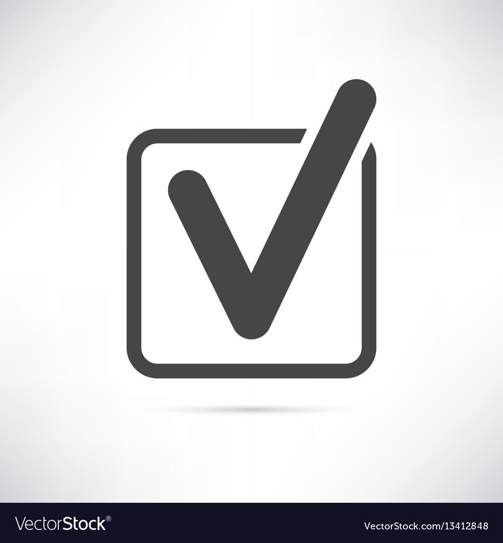 Checkbox icon vector image