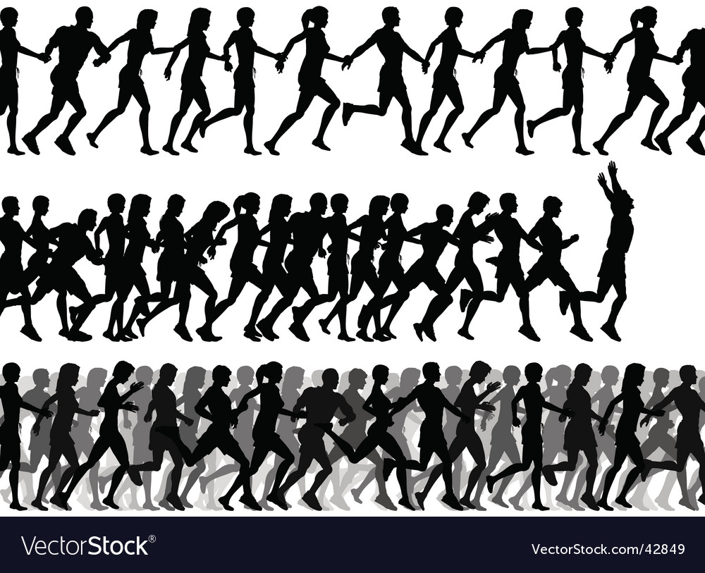 Foreground runners Vector Image