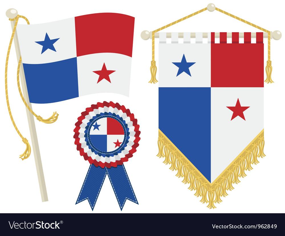 Panama Flags Royalty Free Vector Image VectorStock - Panama flags