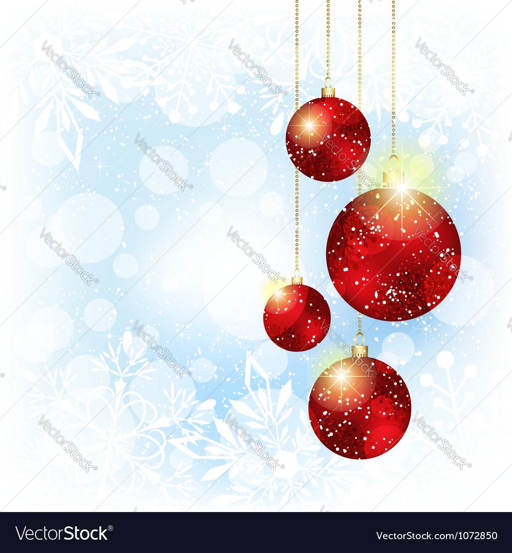 Sparkling Christmas Red Crystal Ball vector image