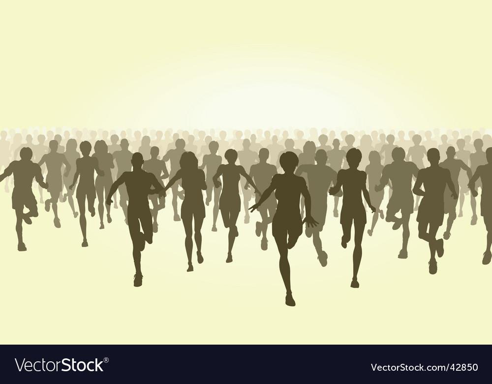 Marathon vector image