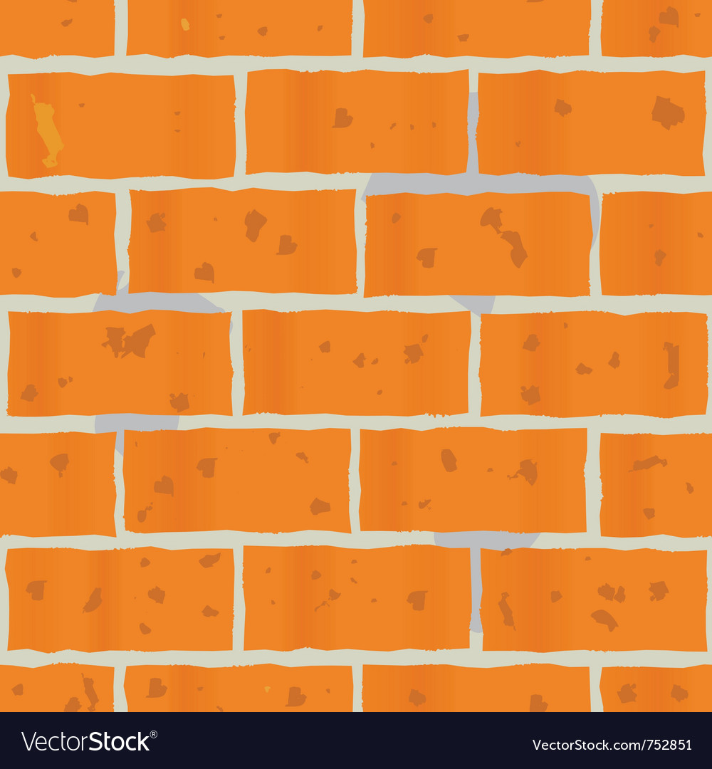 Red bricks wall seamless vector image