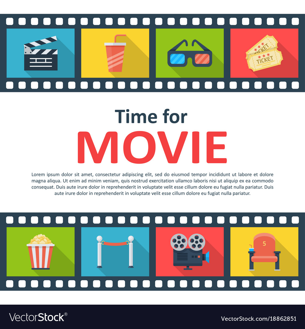Time for movie copyspace poster vector image