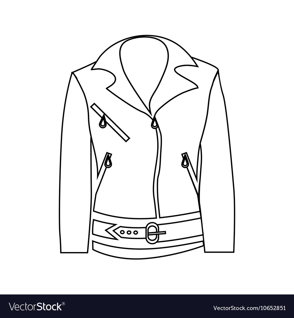 Women jacket icon outline style vector image