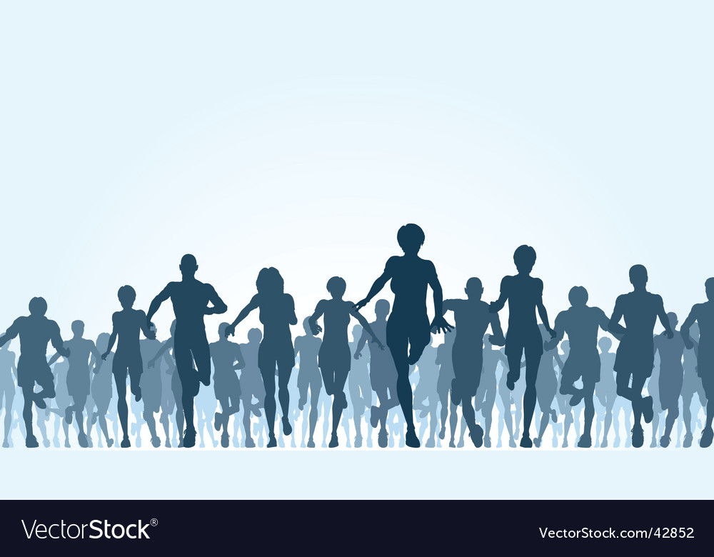 Running crowd vector image