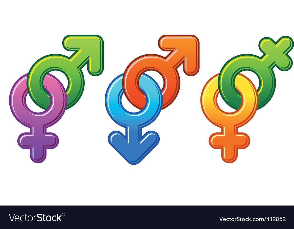 Man and woman signs vector image