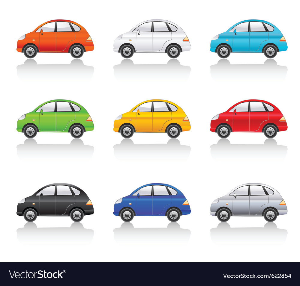 Retro style cars vector image