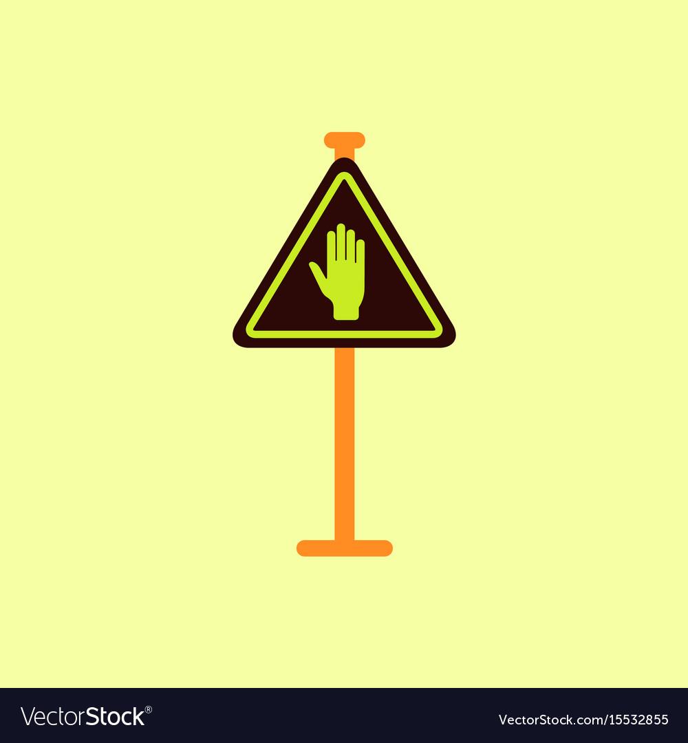 No entry hand sign traffic symbol vector image
