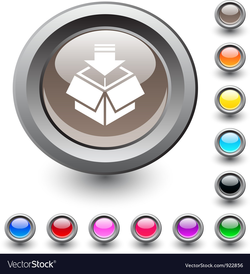 Package round button vector image