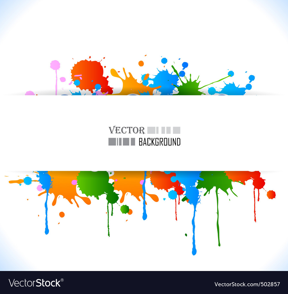 Colour grunge poster Vector Image