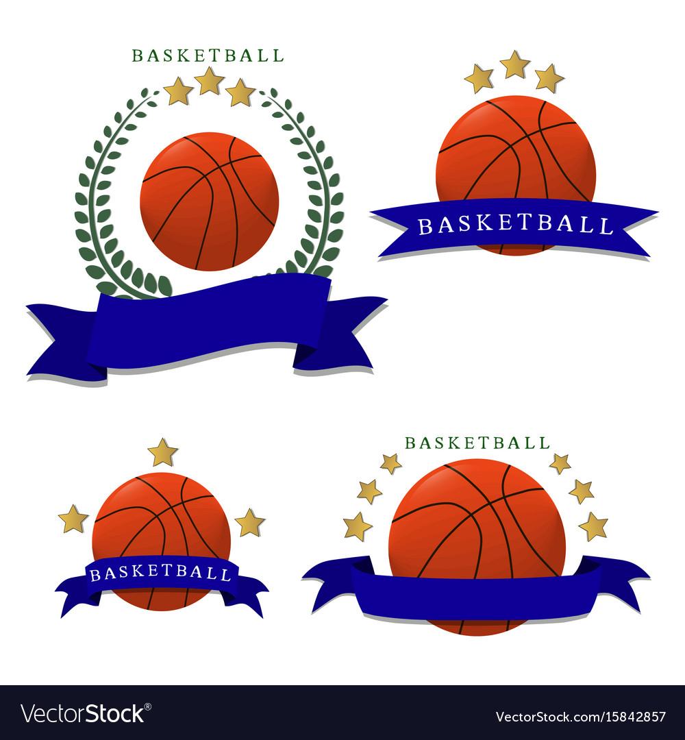 The theme basketball vector image