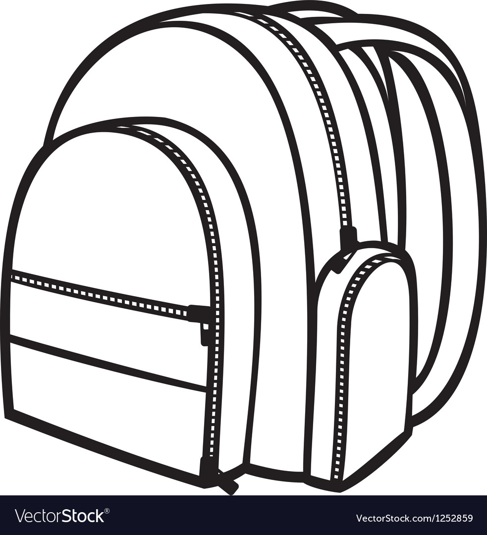 Bag pack vector image