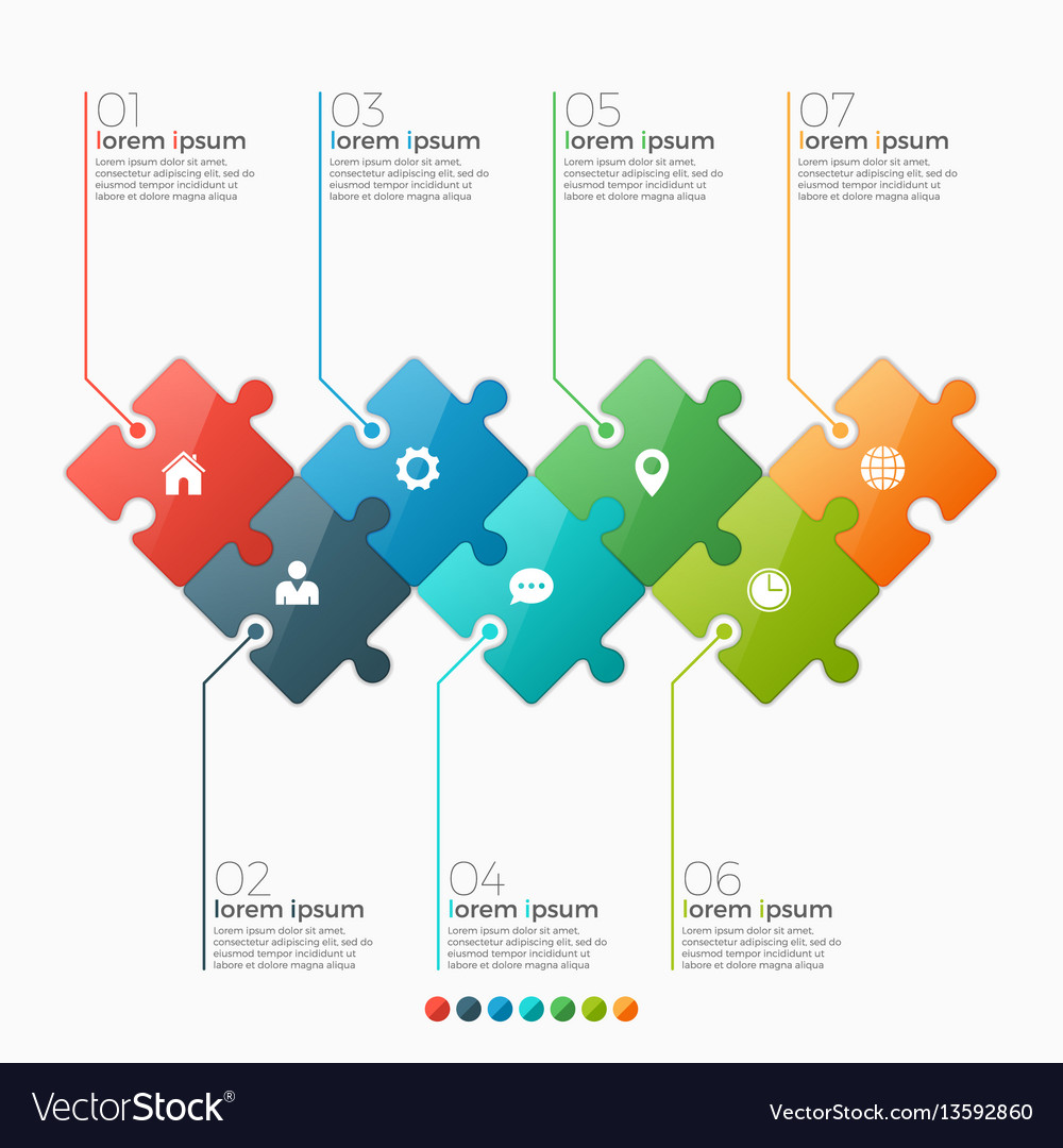 7 options infographic template vector image