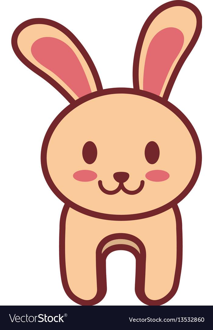 Cartoon rabbit animal image vector image
