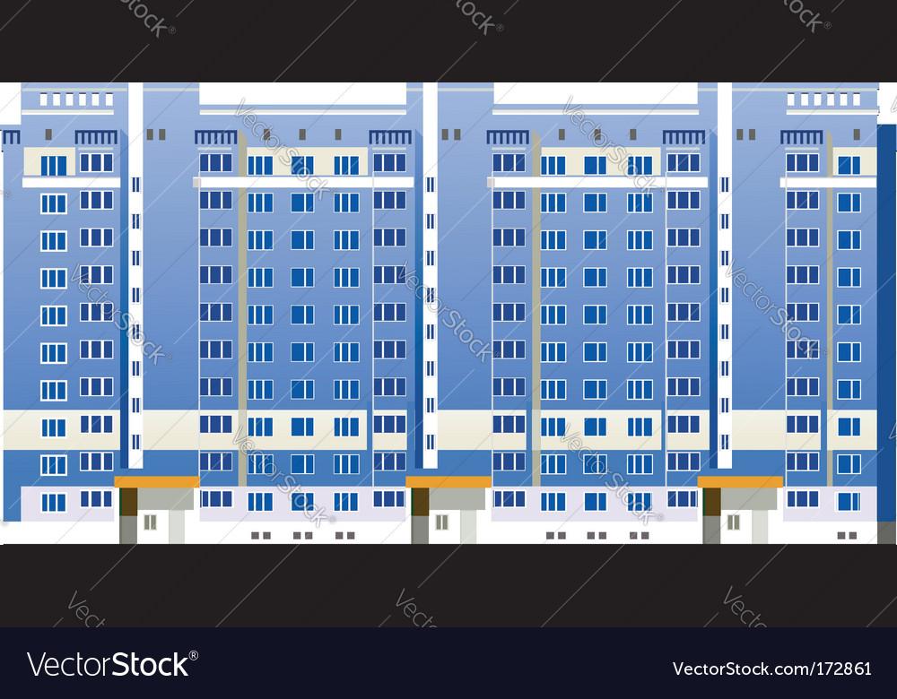Multistory buildings illustration vector image