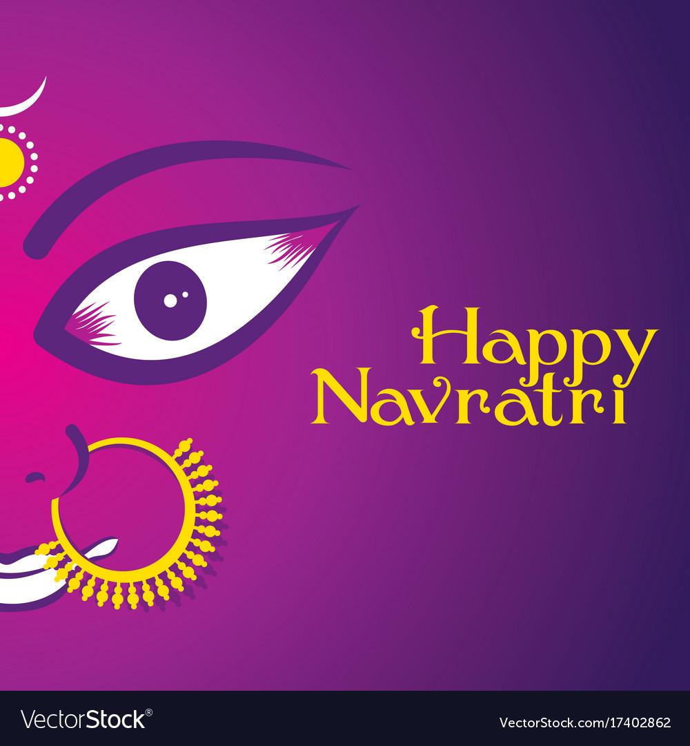 Happy navratri festival poster vector image