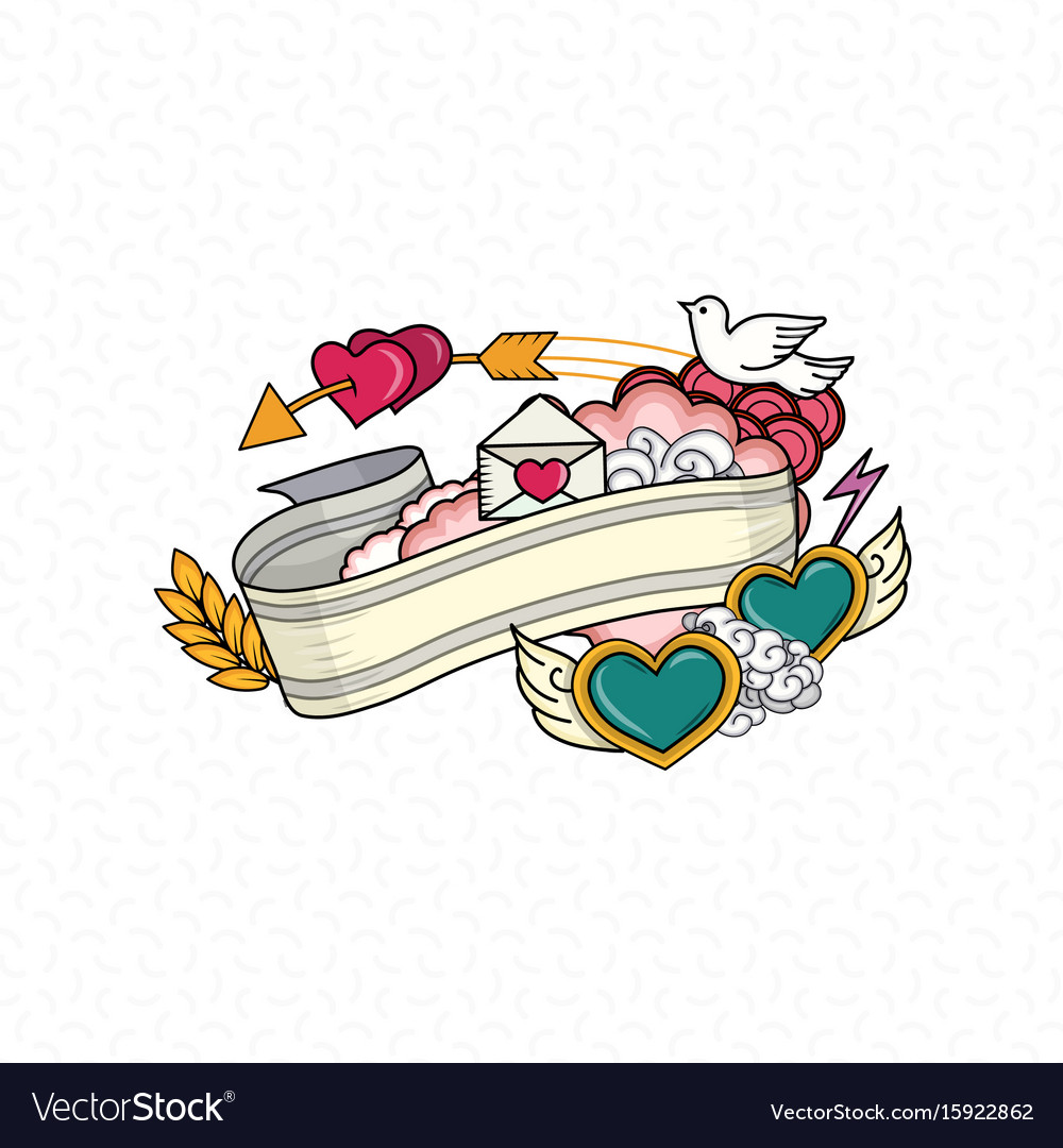 Love and heart vector image