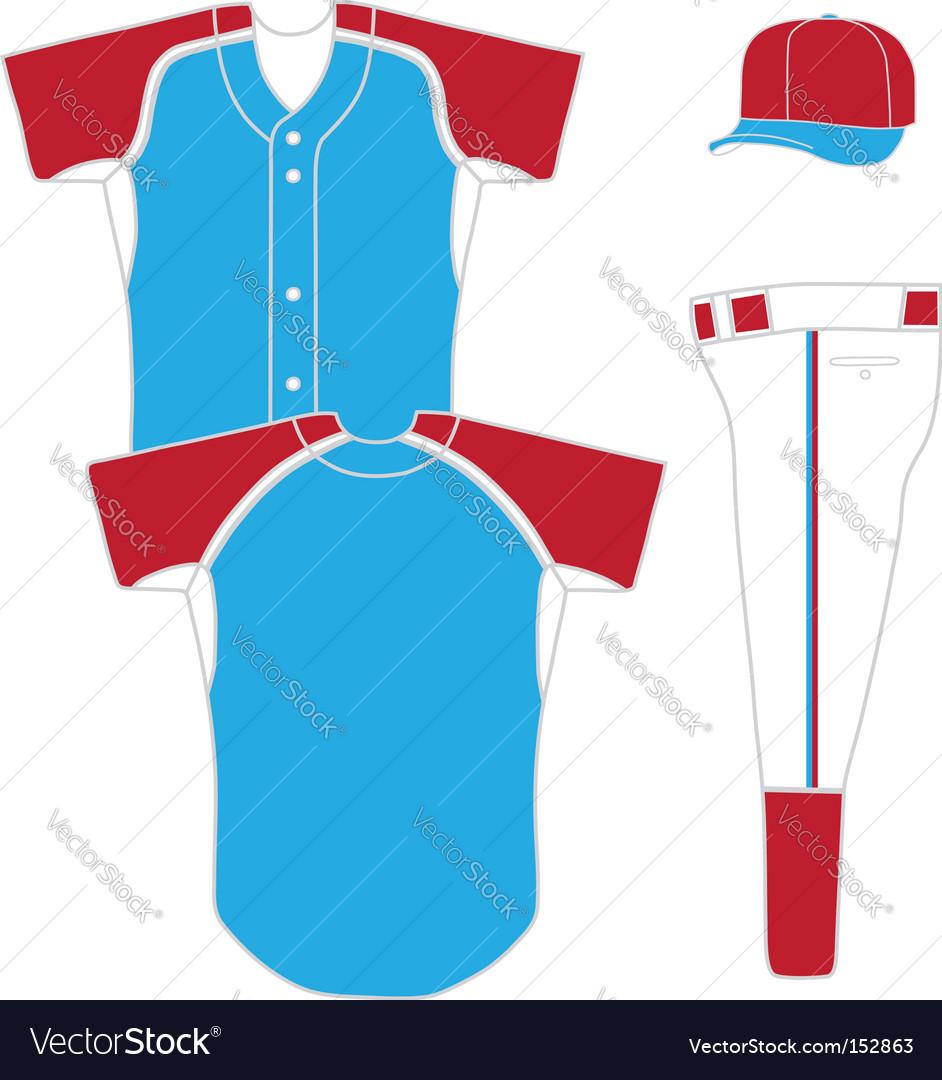 Baseball uniform vector image