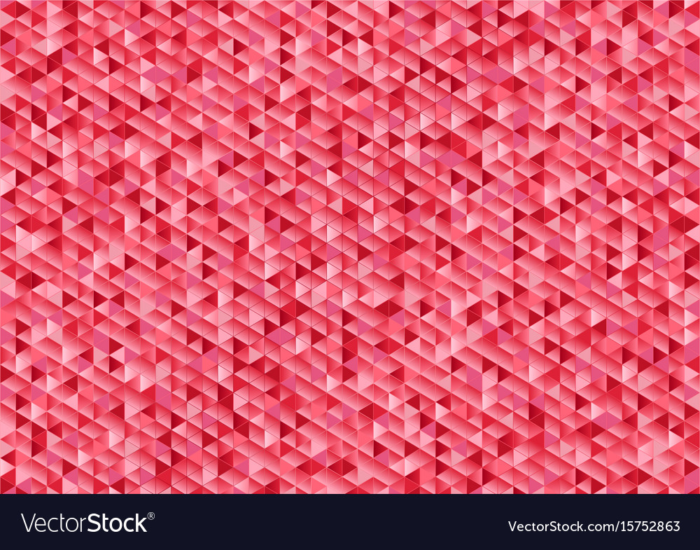 Pink sparkling triangles mosaic abstract vector image