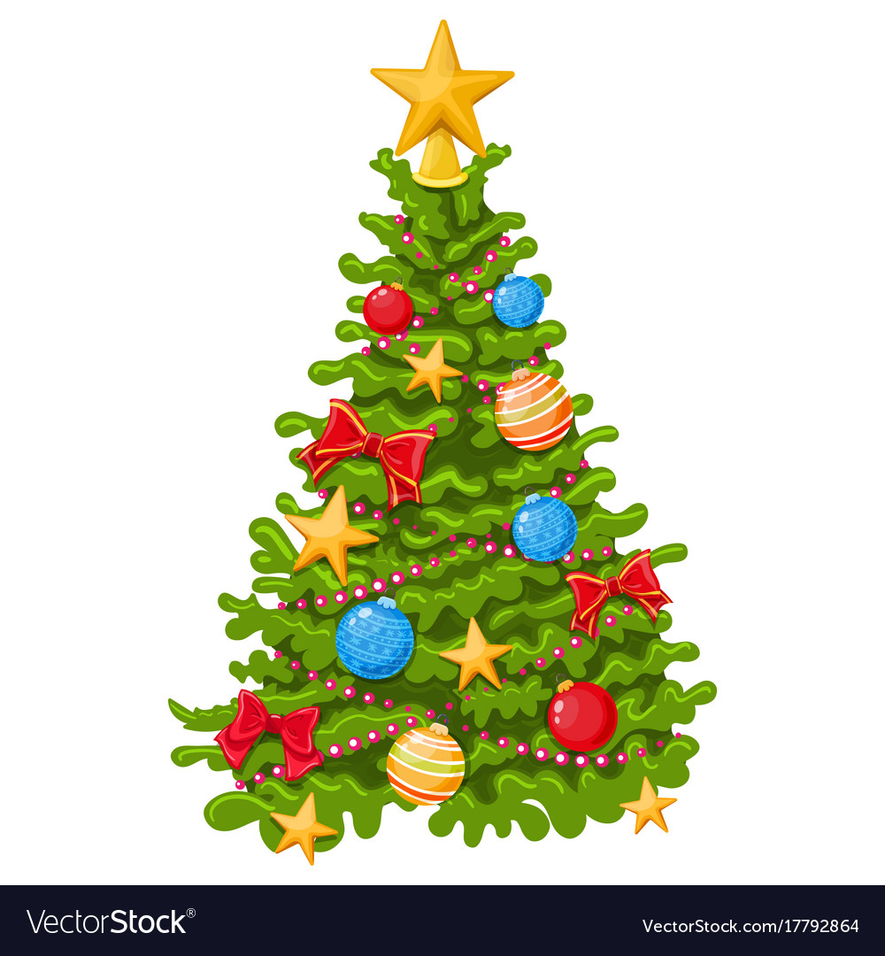 Colorful christmas tree Royalty Free Vector Image