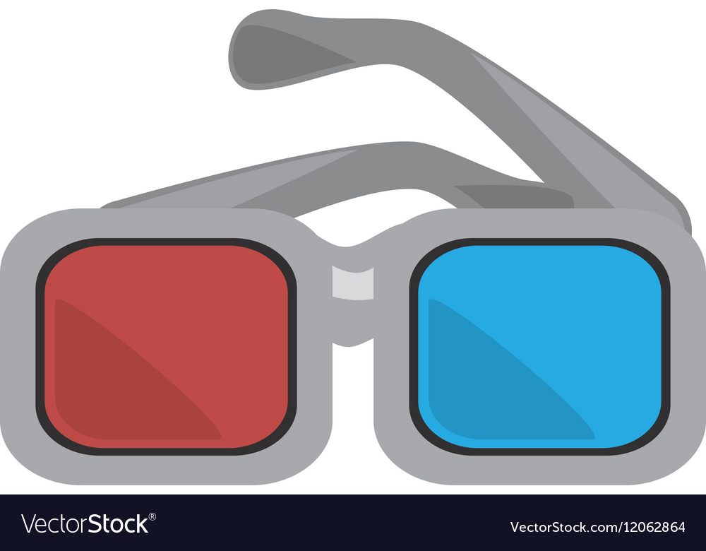 Glasses 3d movie cinema design vector image