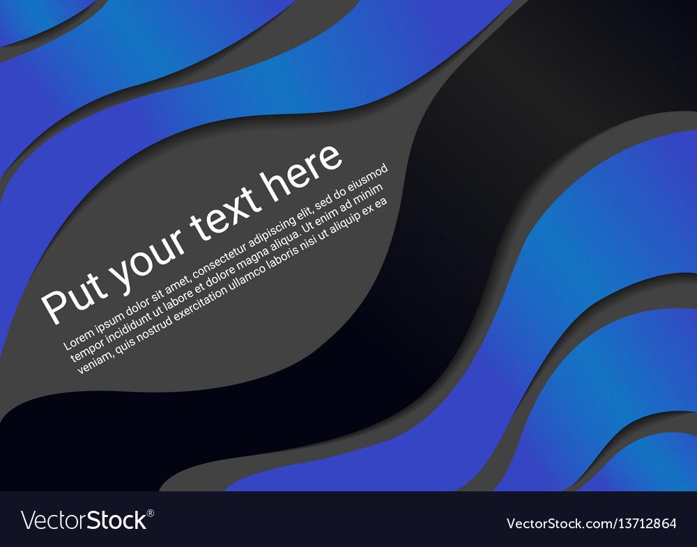 Wavy template vector image