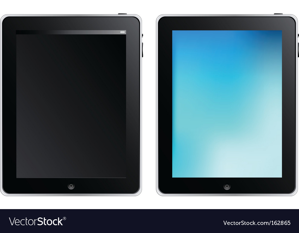 Tablet touch computer vector image