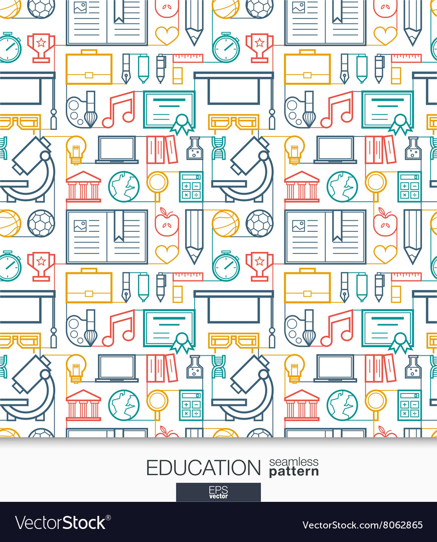 Education wallpaper School and university vector image