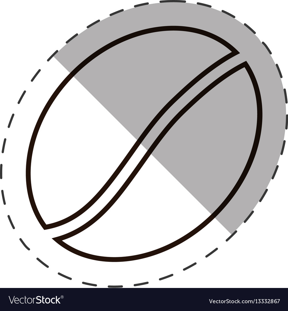 Coffee bean roasted icon line vector image