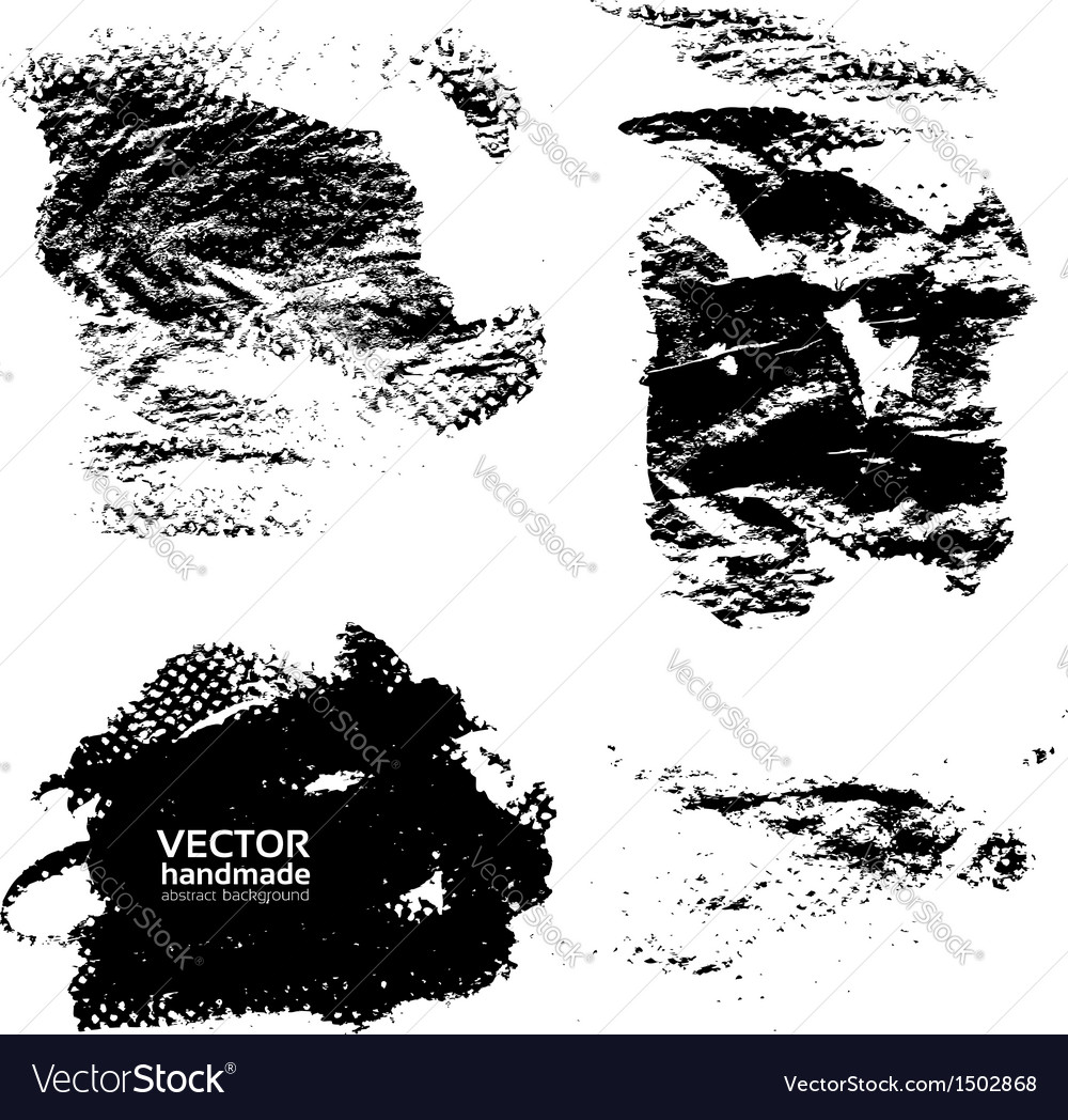 Abstract spots of paint vector image