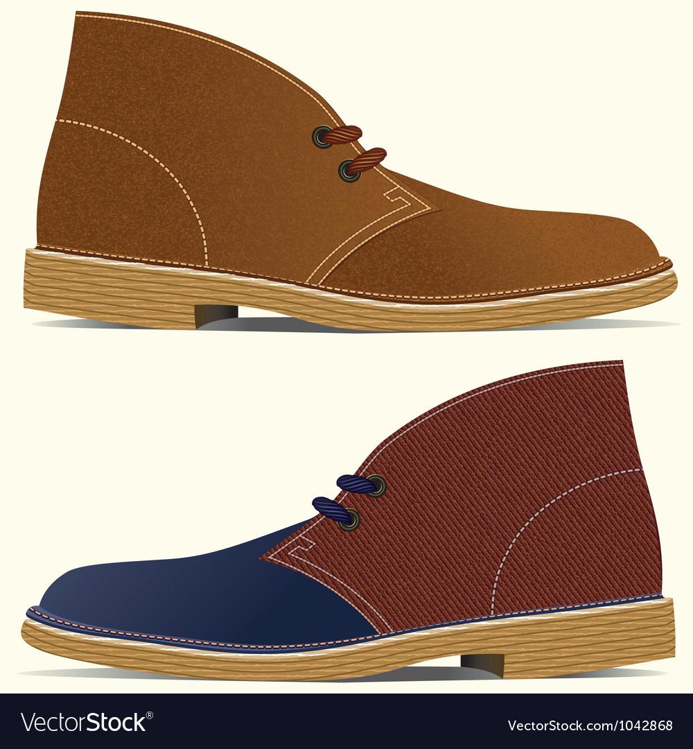 Desert boots vector image