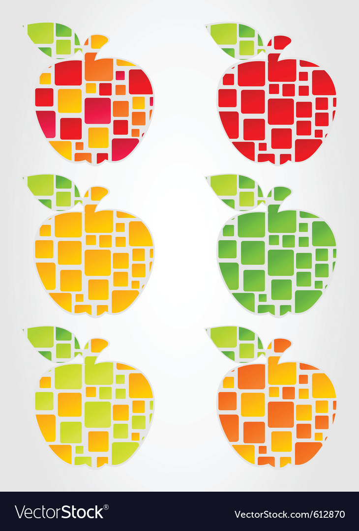Apple design vector image