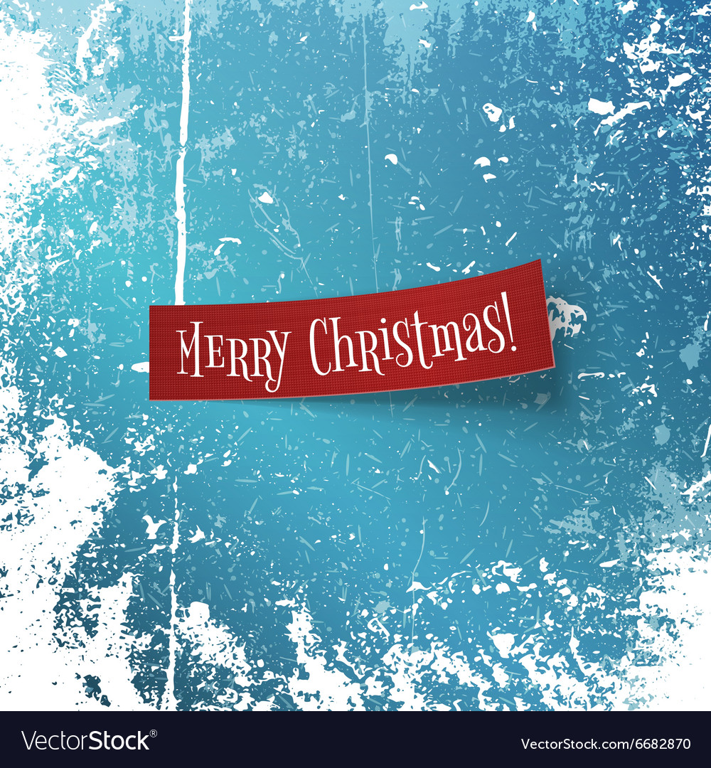 Merry Christmas realistic textile red Ribbon vector image