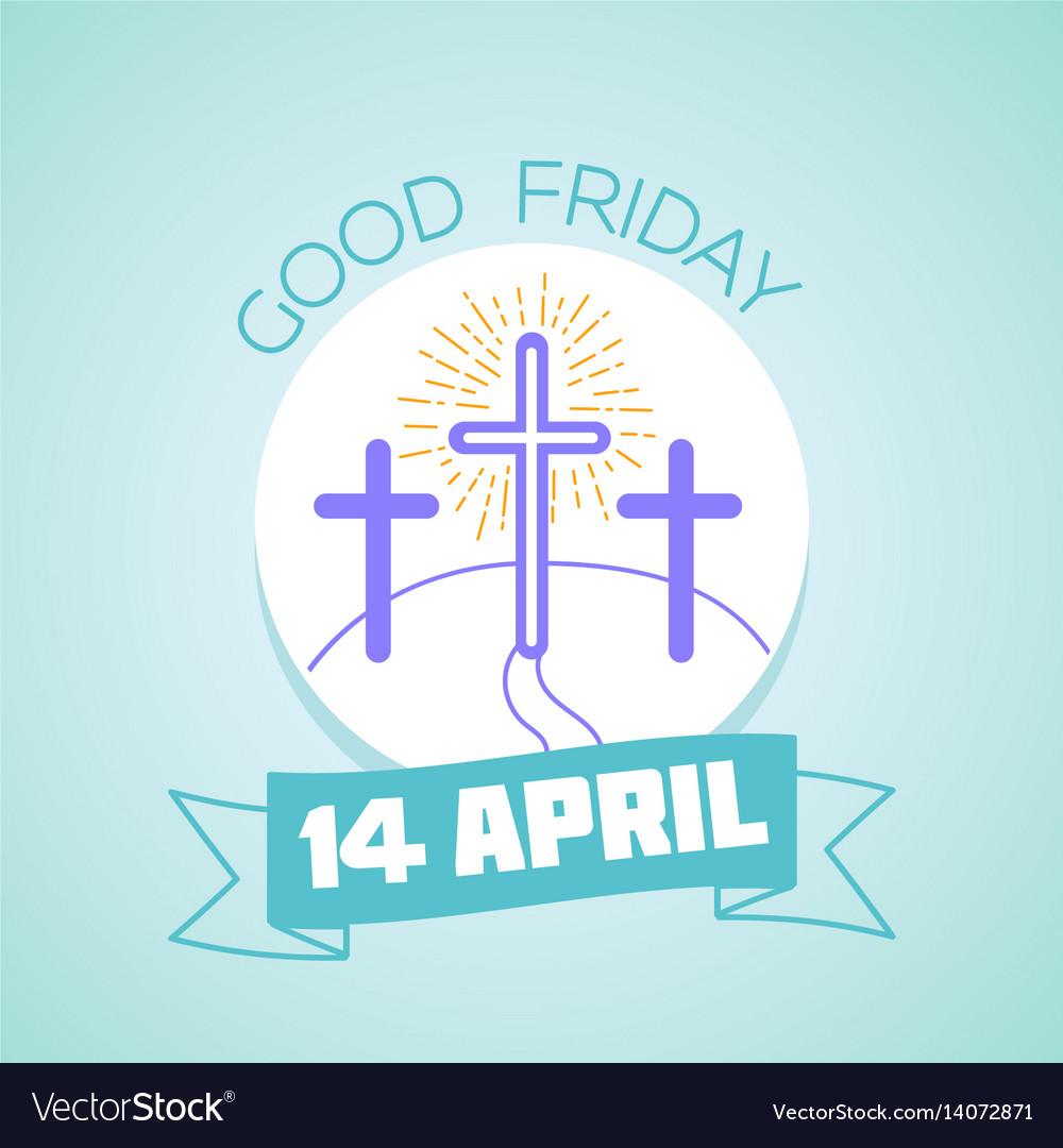 Calendar good friday vector image