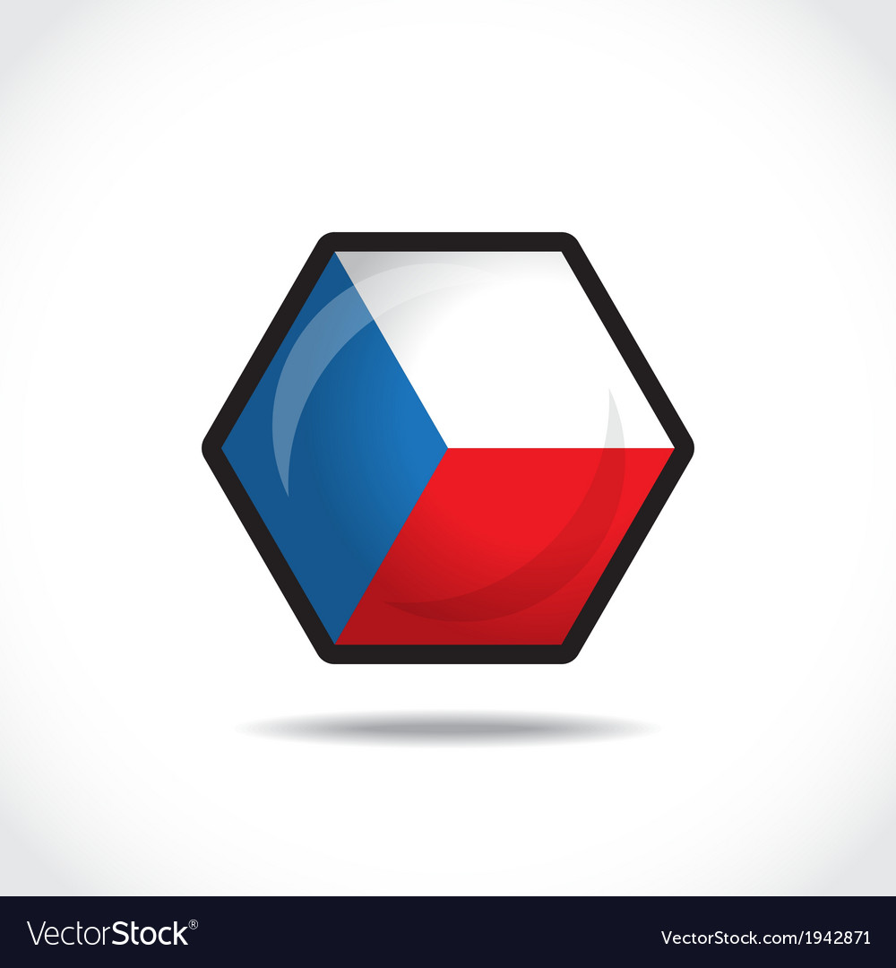 Czech republic icon vector image