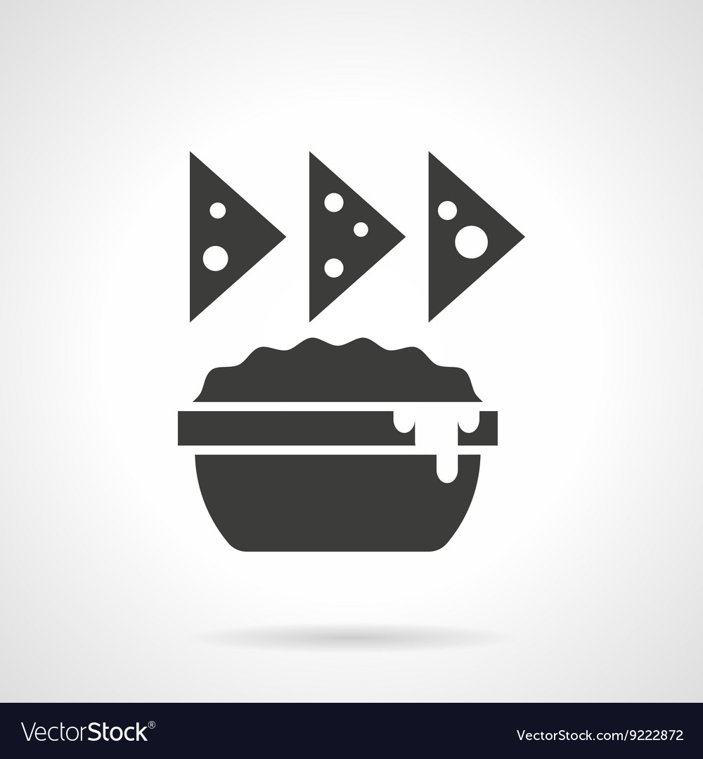 Cheese appetizer glyph style icon vector image