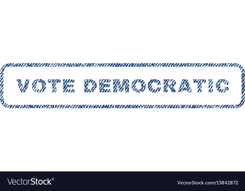 Vote democratic textile stamp vector image
