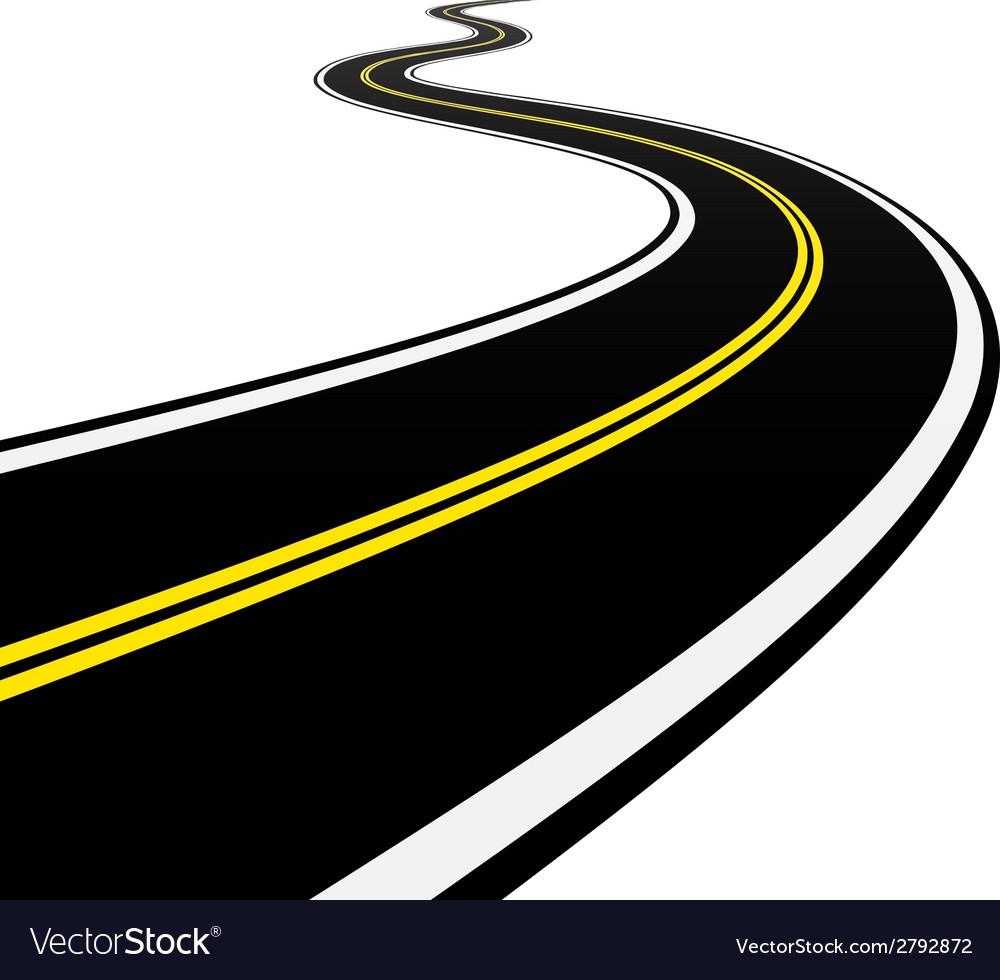 winding road royalty free vector image vectorstock rh vectorstock com road vector eps road vector art
