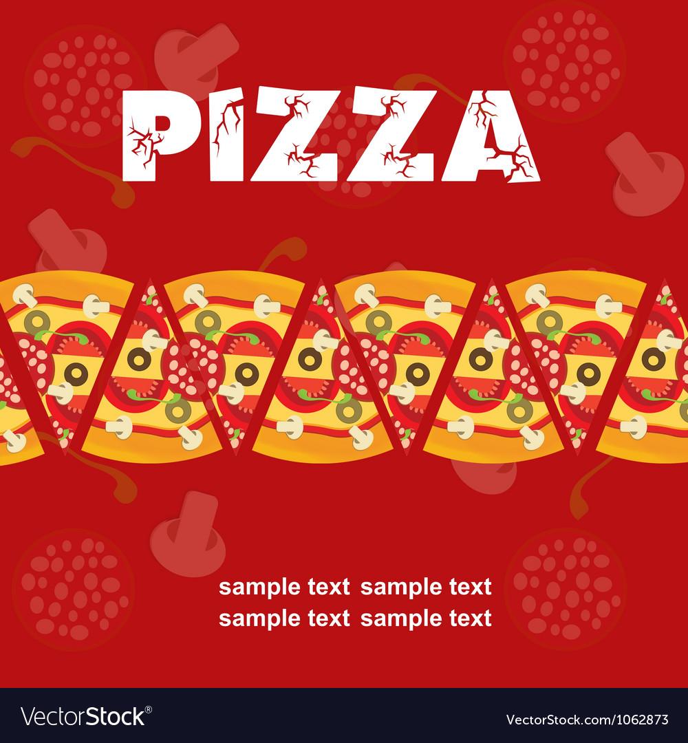 Pizza Menu Template Royalty Free Vector Image Vectorstock Pizza Menu  Template Vector Image Maxwellsz