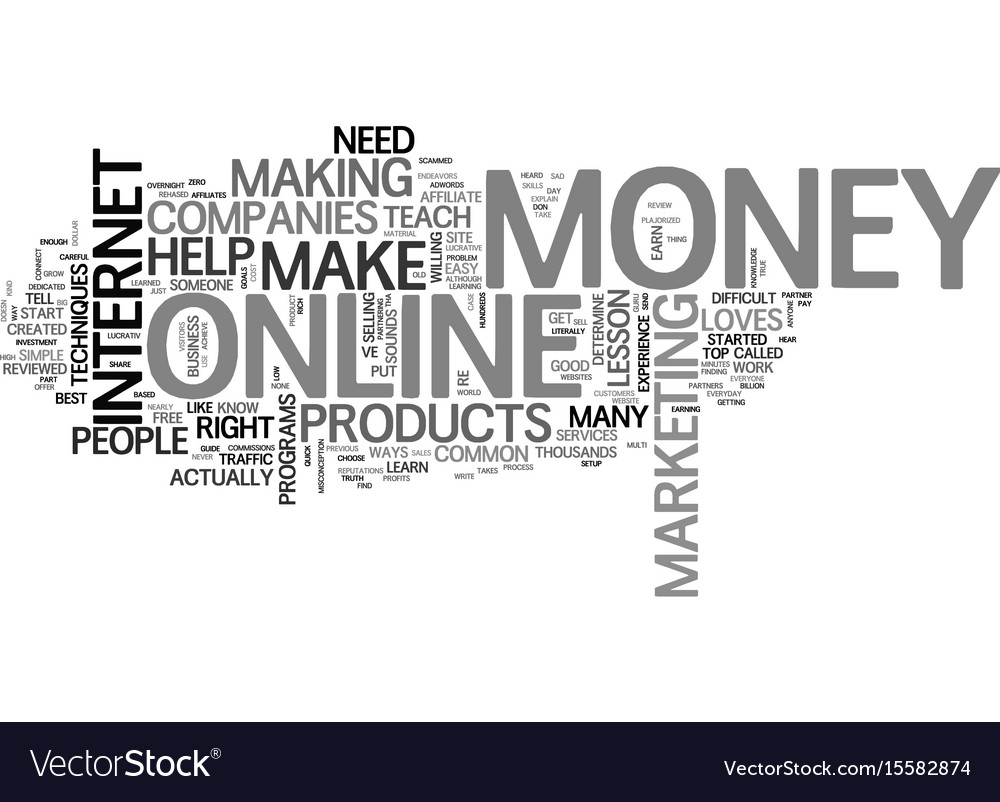 Who loves money review text word cloud concept vector image