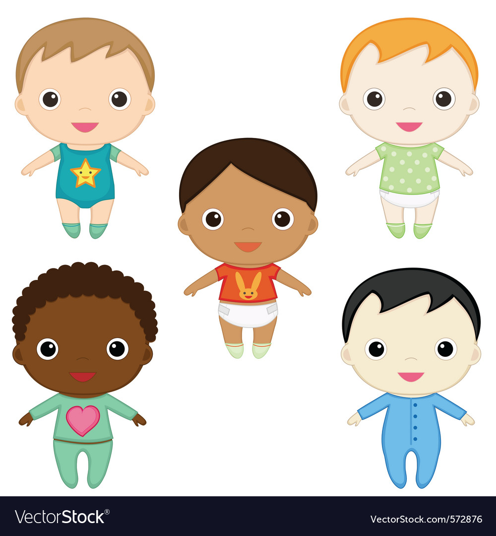 Baby boys vector image