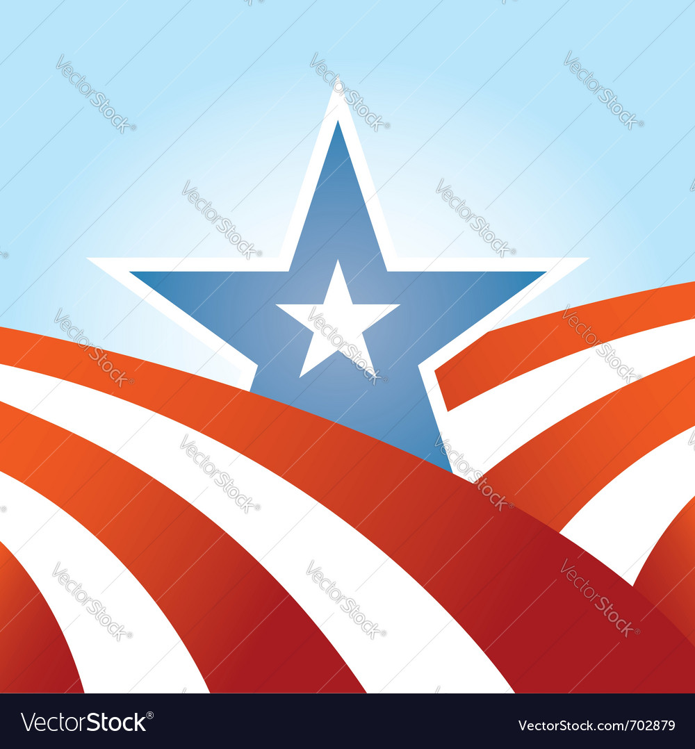 Abstract american design vector image