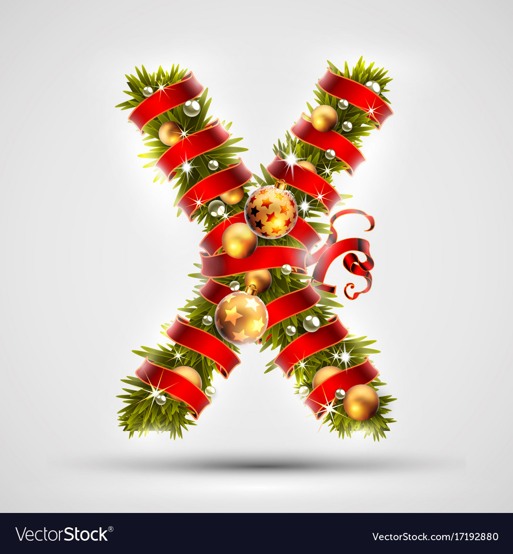 Letter X, For Christmas Decoration Stock Illustration ...