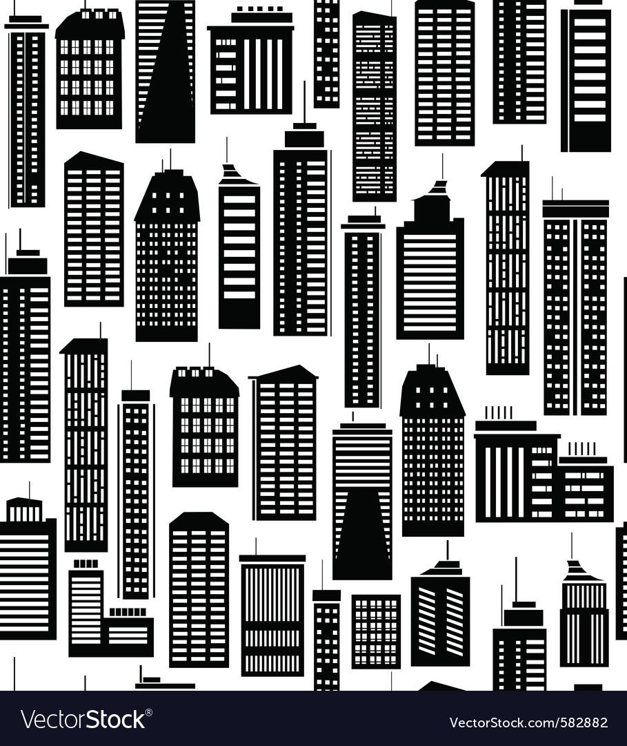 Skyscraper seamless pattern vector image