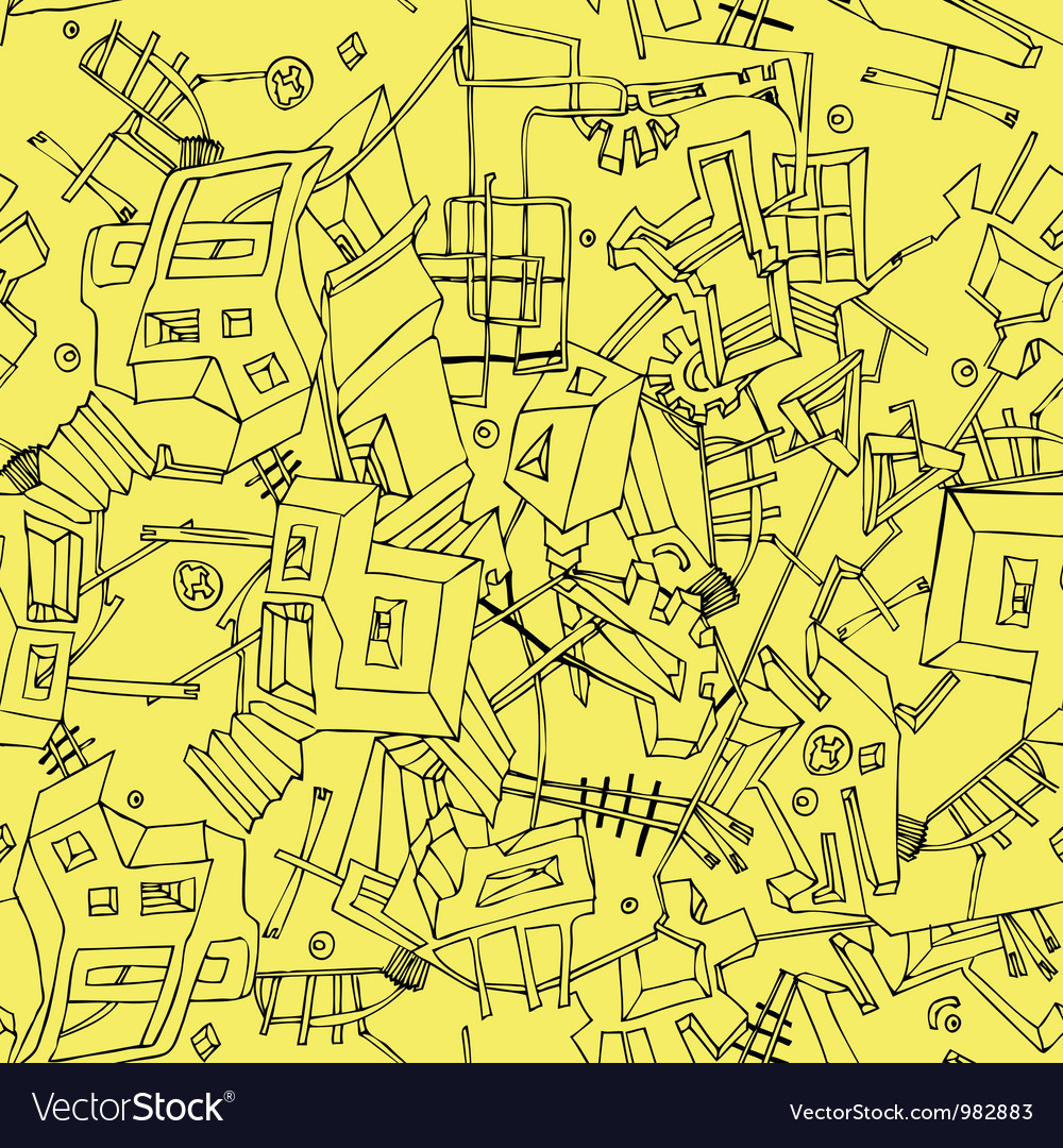 Abstract seamless texture of urban vector image
